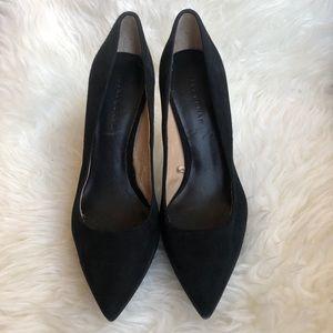 👑 ZARA WOMAN | Black suede heels